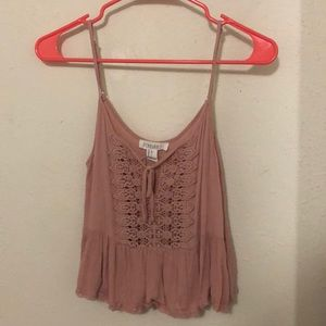 Pink Forever 21 crop top tank